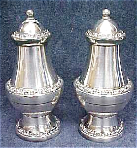 Ornate Silver Plated Salt & Pepper England (Image1)