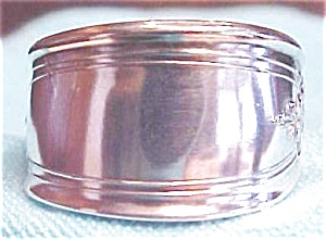 Spoon Ring Silverplated Sleek Floral Size 8 1/4 (Image1)