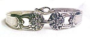 Spoon Bracelet Silverplate Floral Cutwork (Image1)