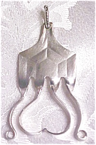 Silverplate Pendant Abstract Heart Spoon Jewelry (Image1)