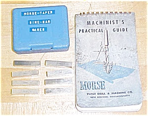 Morse Taper Sine Bar Gauge Block Set W/book
