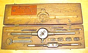 Craftsman Tap & Die Set W/ Vintage Wood Box