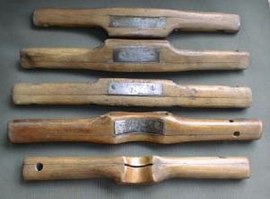 Cabinetmaker's Scrapers / Shaves Set Of 5