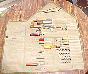 U.s. Carpenters & Wheelrights Tool Roll W/ Tools