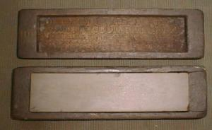 Nice 2 x 8 inch Sharpening Stone in Wood Case Antique (Image1)