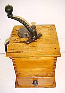 Sun Challenge Antique Box Coffee Mill Grinder Large (Image1)