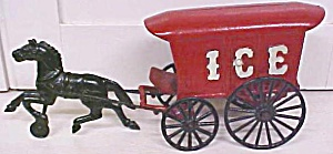 Kenton Horse Drawn Ice Wagon Single Horse Rare! (Image1)