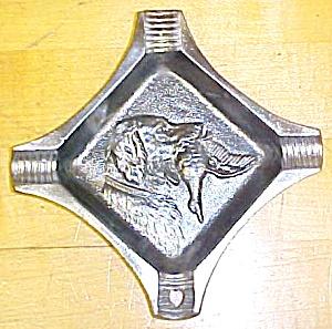 Ashtray Cast Iron Hunting Dog Bird Decoration Rare! (Image1)