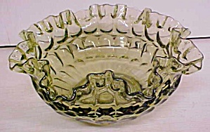 Fenton Bowl Ruffled Light Green 8 inch (Image1)