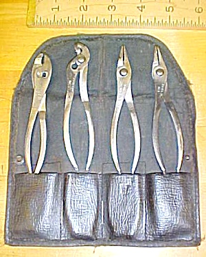 Antique K-D Mini Pliers Set & Pouch K-D No. 6 to 9 (Image1)