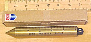 Lufkin Brass No. 590G Tank Gauging Plumb Bob /Box (Image1)