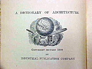 Dictionary of Terms Used in Architecture Building Rare! (Image1)