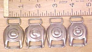 Antique Horse Harness Brass Buckle Tack Bullseye (Image1)