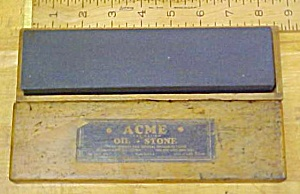 Acme Oil Stone w/ Wood Box Fine/Course (Image1)