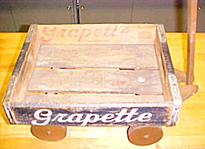 Grapette Soda Bottle Wood Carry Crate Wagon Kent Ohio