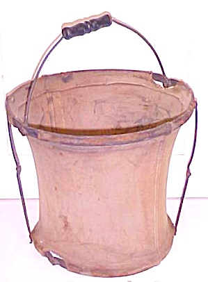 Antique Bucket Canvas Collapsible Military (Image1)