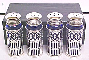 Rogers Salt Pepper Shaker Sets 2 + Box Blue (Image1)