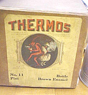 Antique Thermos Bottle Insert Early Box label (Image1)