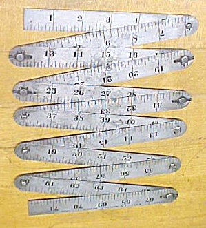Starrett Steel Folding Rule No. No. 451 Patent 1911