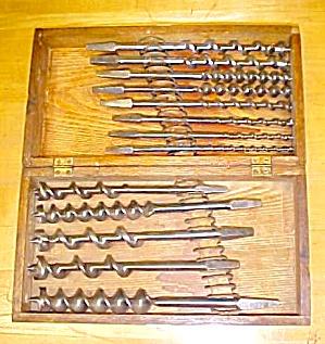 Snell Brace Auger Bit Set w/Oak Box/Chest (Image1)