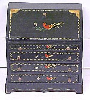 Desk Dollhouse Drop Front Hand Painted Penn Dutch (Image1)