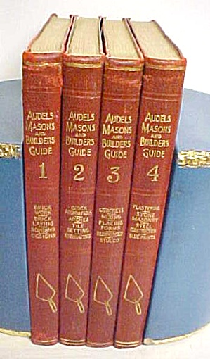 Audels Masons & Builders Guide 4 Vol 1924 1st Ed. (Image1)