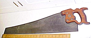 Disston Hand-saw D-8 Crosscut Saw 1930's 9 Tpi