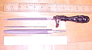 Antique File Handle Cast Iron File Holder Saw Sharpenin (Image1)