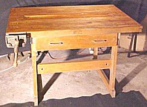 Workbench Woodworking Carpenters w/Vise Butcher Block (Image1)