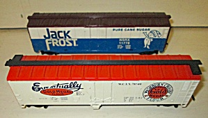 Train Cars Ho Scale Jack Frost & Gold Metal (2) Box Car