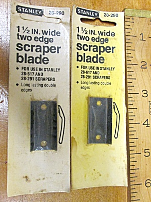 "Stanley Hook Scraper Double Blade 1.5"" Wide New"