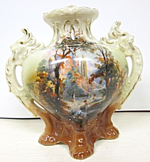 Royal Bayreuth Handle Vase 1902+ (Image1)