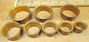 Antique Bakelite Flange Ring Set