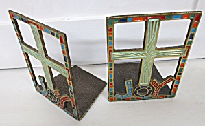 Terra Sancta Joy Bookends Brass 1967