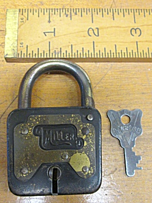 Miller Pressed Steel Padlock W/key