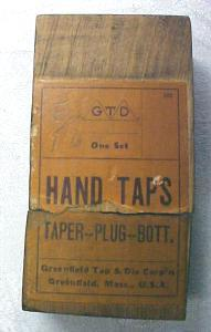 Greenfield Hand Taps + Box Tap Set 5/16-18
