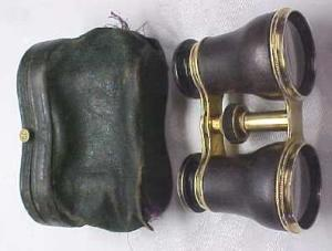 Opera Glasses Brass & Leather  (Image1)