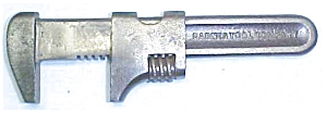 Barnes Adjustable 4 inch Wrench  Rare! (Image1)
