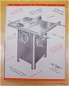 Delta Tilting Arbor Saw 1955 Ad (Image1)