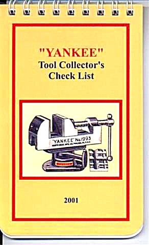 Yankee Tool Collector's Check List Notebook