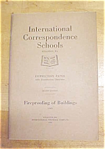 Fireproofing Of Buildings Booklet Set 1920