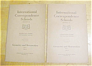 Geometry & Mensuration Booklet Ics 1920