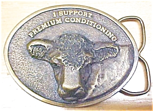 Siskiyou Bronze Cow Belt Buckle (Image1)