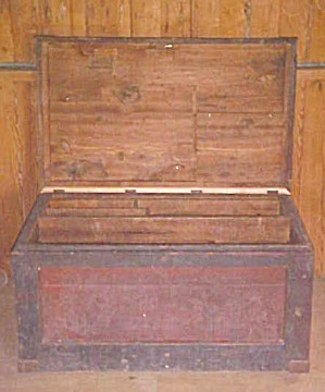 Antique Carpenters Tool Chest Box w/Drawers (Image1)