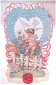 Fold Out Valentine Cherub Hearts Germany