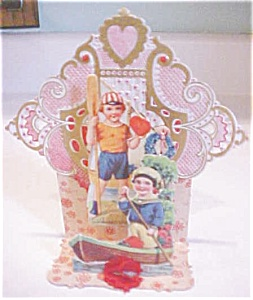 Fold Out Valentines Card Boys & Boats Germany (Image1)