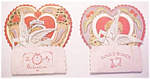 Honeycomb Valentines Card 2pc Vintage Boy And Girl