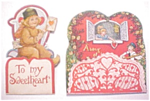 Honeycomb Valentines Vintage 2PC 1920's (Image1)