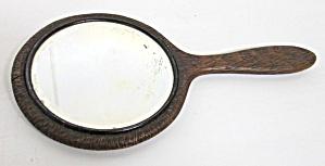 Dresser Mirror Carved Wood Handle Floral (Image1)