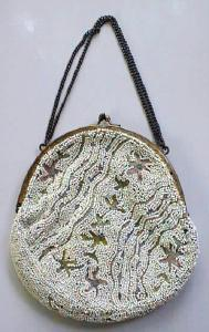 Purse Bag Beaded & Embroidered Ladies French (Image1)
